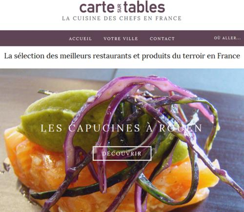 16 Blog Carte sur Tables