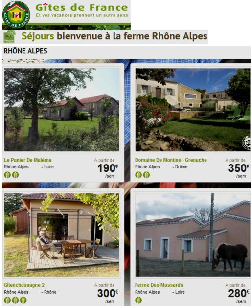 16 Gites de France Rhone Alpes