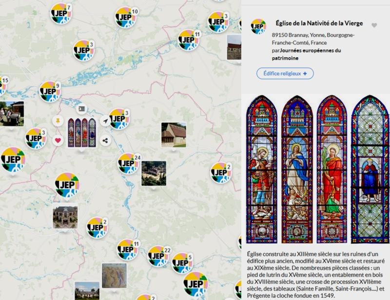 19 Journees Europennes Patrimoine Carte Eglise