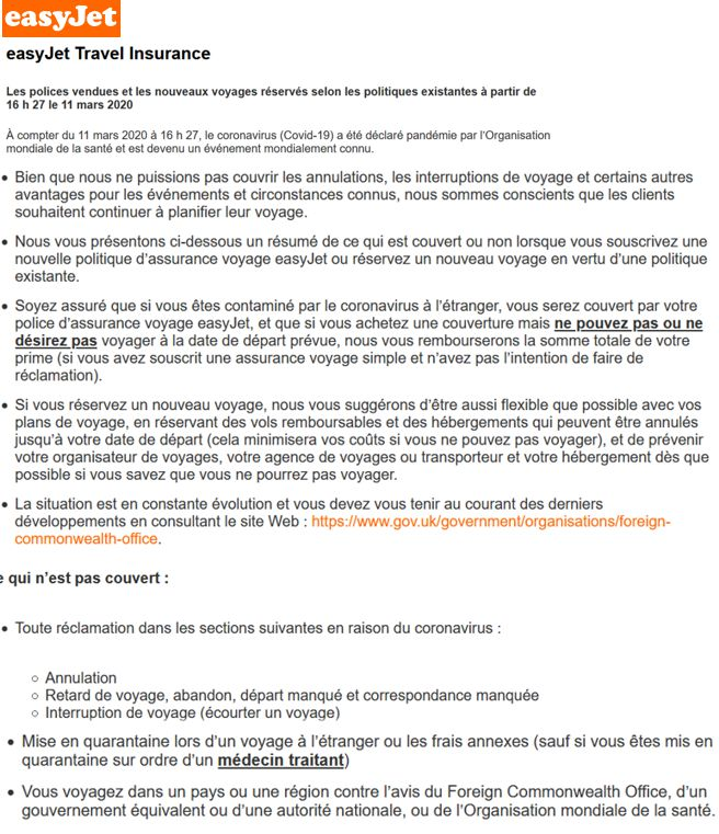 20 EasyJet Application 11 mars 2020
