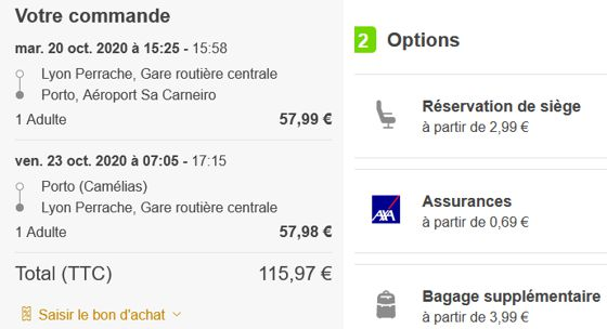 20 Flixbus Lyon Porto Options Octobre 2020