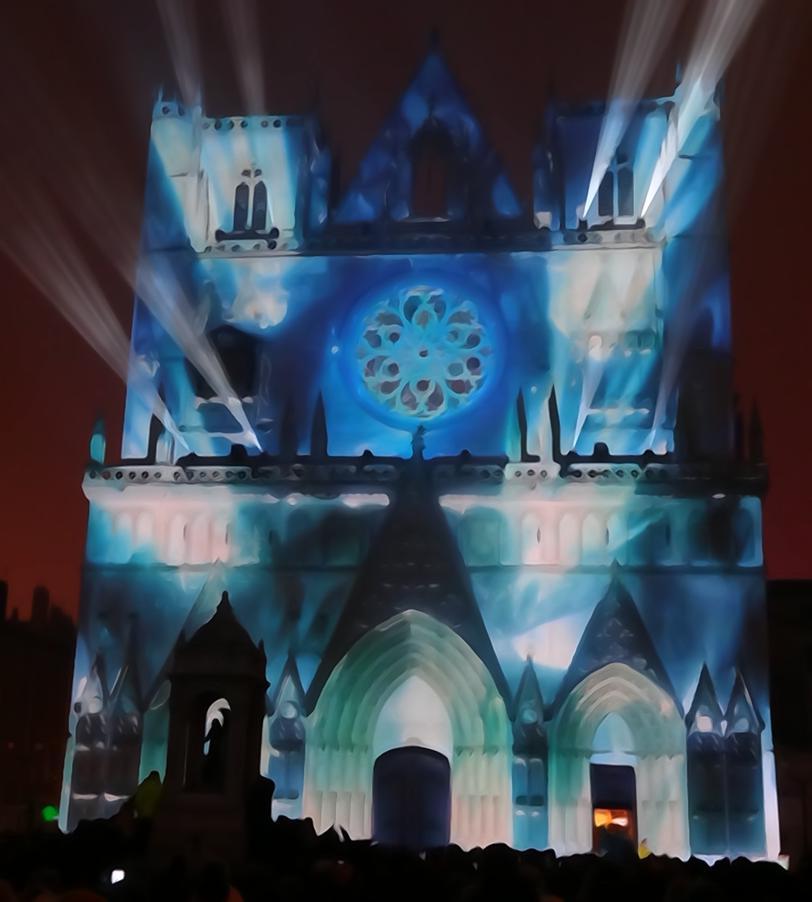19 Fete Lumieres Cathedrale St Jean Genesis Art