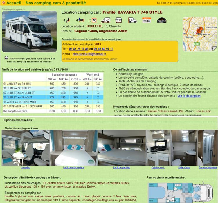 18 LocationCampingcardeParticulier Annonce