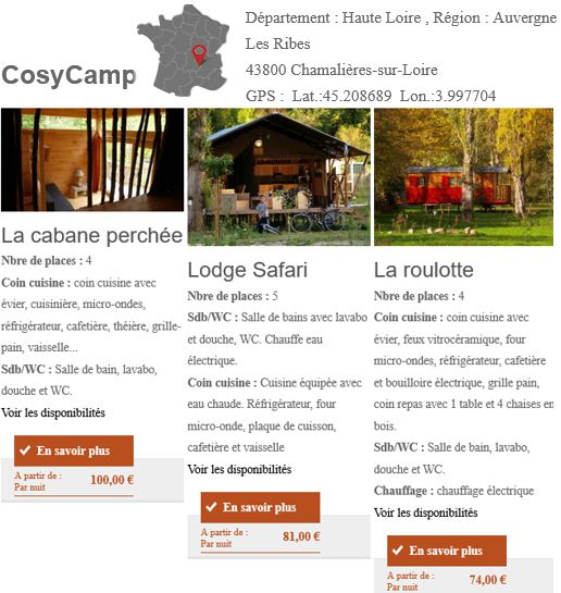20 Cosy Camp Chamalieres sur Loire