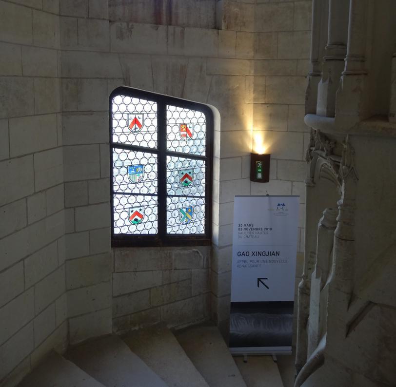 19 Chaumont sur Loire Chateau Escalier Expo Gao Xingjian