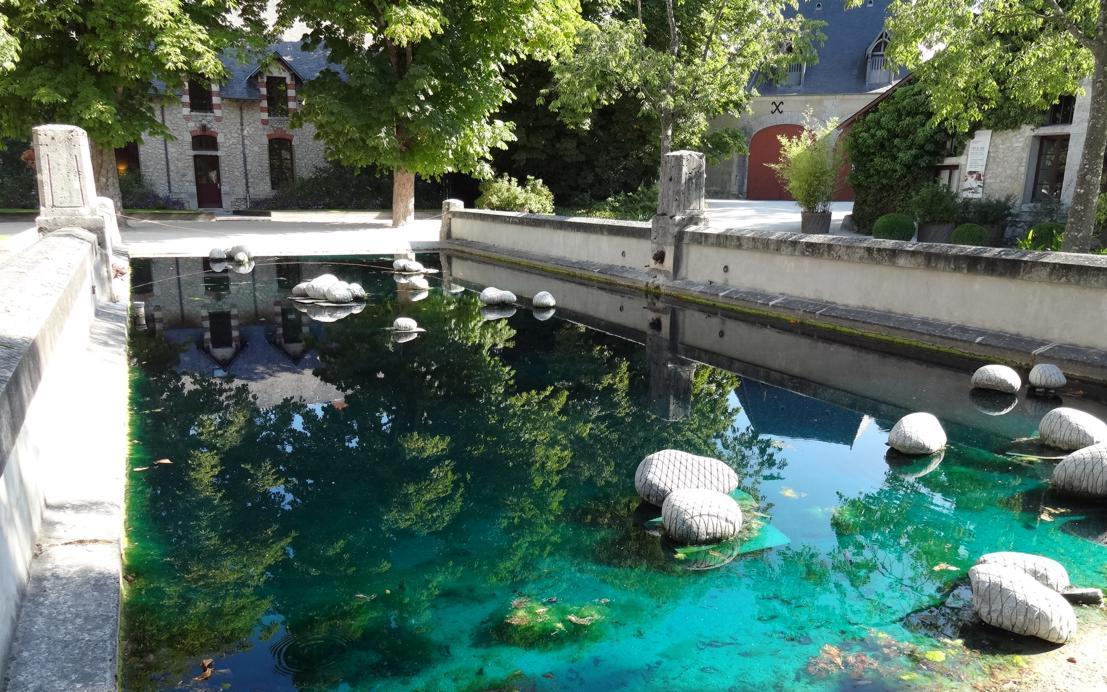 19 Chaumont sur Loire Entree Cour Int Oeuvre Bassin 1