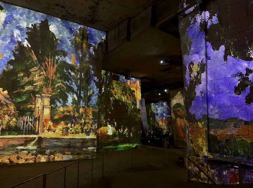 21 Carrieres de Lumieres Baux de Provence Expo Cezanne 3