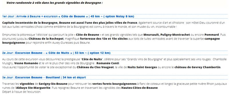 18 Rando Velo Circuits Bourgogne Beaune