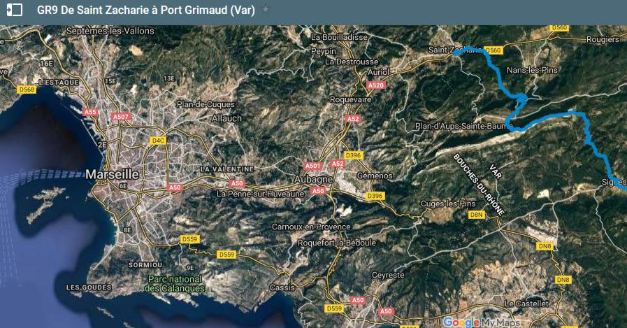 19 GR 9 Saint Zacharie Port Grimaud