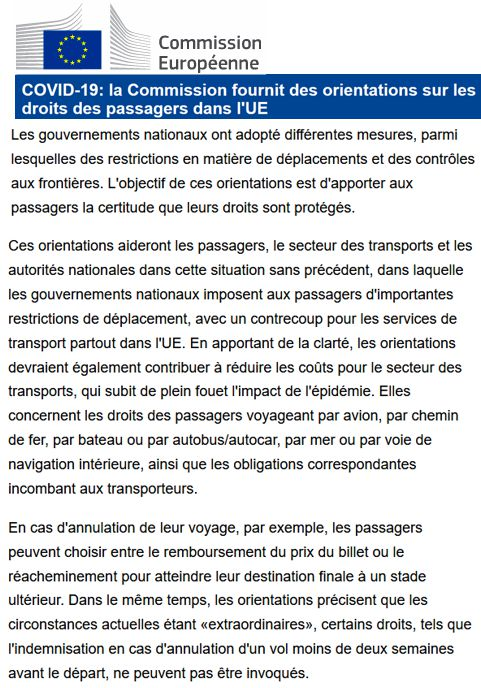 20 Commission Europeenne Covid 19 Transport