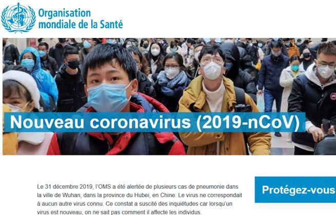20 OMS Epidemie Coronavirus