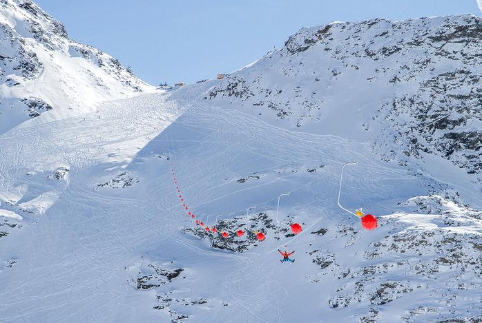 18 Tyrolienne Val Thorens