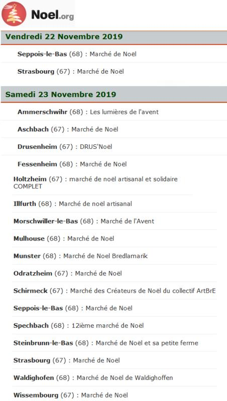 19 Site Liste Marches Noel